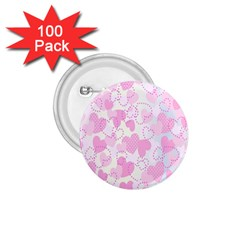 Valentine Background Hearts Bokeh 1 75  Buttons (100 Pack)