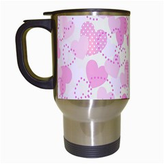 Valentine Background Hearts Bokeh Travel Mugs (white)