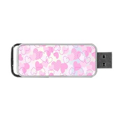 Valentine Background Hearts Bokeh Portable Usb Flash (one Side)