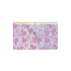 Valentine Background Hearts Bokeh Cosmetic Bag (xs)