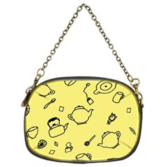 Tea Seamless Pattern Teatime Chain Purse (two Sides)