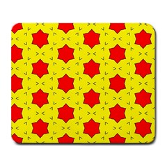 Pattern Red Star Texture Star Large Mousepads by Nexatart
