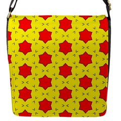 Pattern Red Star Texture Star Flap Closure Messenger Bag (s) by Nexatart