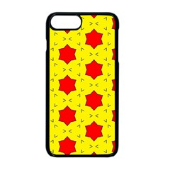 Pattern Red Star Texture Star Iphone 8 Plus Seamless Case (black)