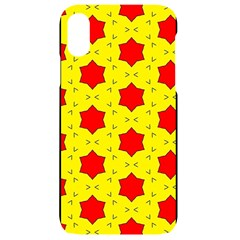 Pattern Red Star Texture Star Iphone Xr Black Uv Print Case