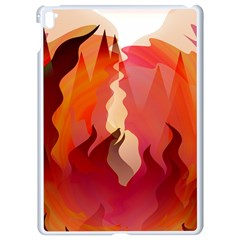 Fire Abstract Cartoon Red Hot Apple Ipad Pro 9 7   White Seamless Case