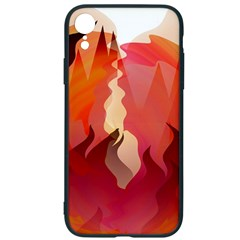 Fire Abstract Cartoon Red Hot Iphone Xr Soft Bumper Uv Case