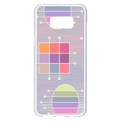 Pastels Shapes Geometric Samsung Galaxy S8 Plus White Seamless Case