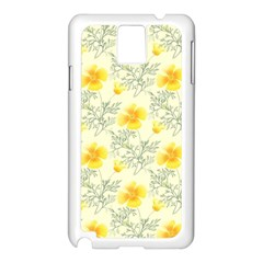 Floral Background Scrapbooking Samsung Galaxy Note 3 N9005 Case (white)
