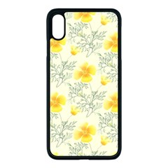 Floral Background Scrapbooking Iphone Xs Max Seamless Case (black)