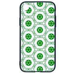 White Background Green Shapes Iphone Xr Soft Bumper Uv Case