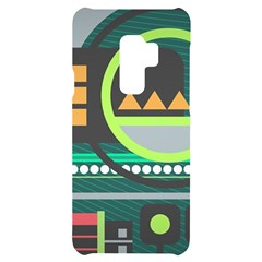 Background Colors Abstract Shapes Samsung S9 Plus Black Uv Print Case