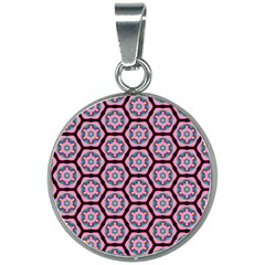 Background Pattern Tile 20mm Round Necklace