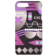 Background Abstract Geometric Iphone 7/8 Plus Black Uv Print Case