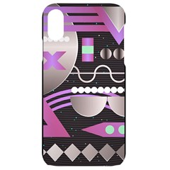 Background Abstract Geometric Iphone Xr Black Uv Print Case