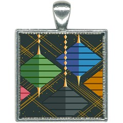 Background Colors Non Seamless Square Necklace