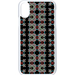 Pattern Black Background Texture Iphone Xs Seamless Case (white)