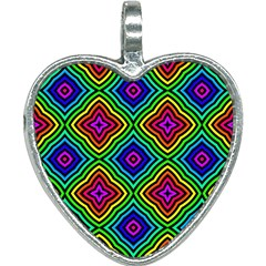 Pattern Rainbow Colors Rainbow Heart Necklace