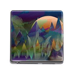 Mountains Abstract Mountain Range Memory Card Reader (square 5 Slot)