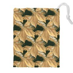 Scrapbook Leaves Decorative Drawstring Pouch (xxxl)