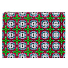 Squares Square Pattern Cosmetic Bag (xxl) by Nexatart