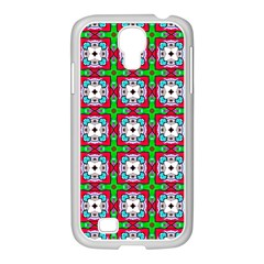 Squares Square Pattern Samsung Galaxy S4 I9500/ I9505 Case (white)