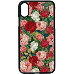 Roses Repeat Floral Bouquet Iphone X Seamless Case (black)