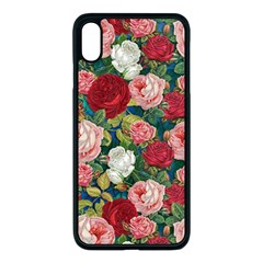 Roses Repeat Floral Bouquet Iphone Xs Max Seamless Case (black) by Nexatart