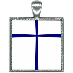 Byzantine Cross Square Necklace by abbeyz71