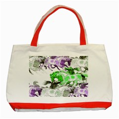 Horse Animal World Green Classic Tote Bag (red) by BangZart