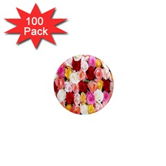 Roses Color Beautiful Flowers 1  Mini Magnets (100 Pack)  by BangZart