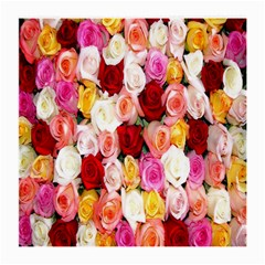Roses Color Beautiful Flowers Medium Glasses Cloth by BangZart