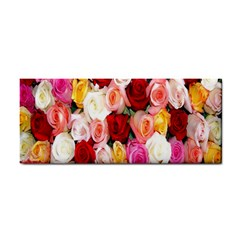 Roses Color Beautiful Flowers Hand Towel by BangZart