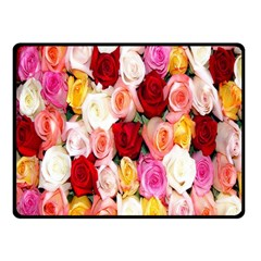 Roses Color Beautiful Flowers Fleece Blanket (small) by BangZart