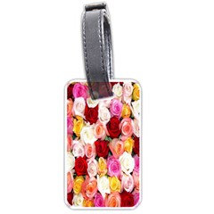 Roses Color Beautiful Flowers Luggage Tag (two Sides) by BangZart