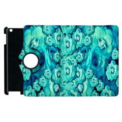 Happy Florals  Giving  Peace Ornate In Green Apple Ipad 3/4 Flip 360 Case by pepitasart