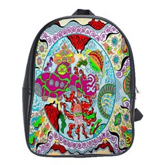 Supersonic Volcanic Splash School Bag (large) by chellerayartisans