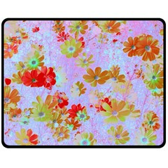 Cosmos Garden 3 Fleece Blanket (medium)  by Cveti