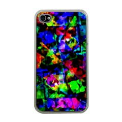 Multicolored Abstract Print Iphone 4 Case (clear) by dflcprintsclothing