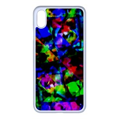 Multicolored Abstract Print Iphone Xs Max Seamless Case (white) by dflcprintsclothing