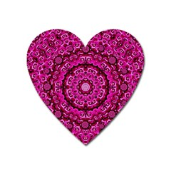 Happy Florals  Giving  Peace And Great Feelings Heart Magnet by pepitasart