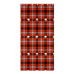 Plaid - Red With Skulls Shower Curtain 36  X 72  (stall)  by WensdaiAmbrose