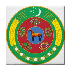 Turkmenistan National Emblem, 2000-2003 Tile Coasters by abbeyz71