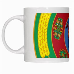 Turkmenistan National Emblem, 2000-2003 White Mugs by abbeyz71