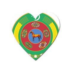 Turkmenistan National Emblem, 2000 2003 Heart Magnet by abbeyz71
