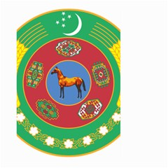 Turkmenistan National Emblem, 2000-2003 Large Garden Flag (two Sides) by abbeyz71
