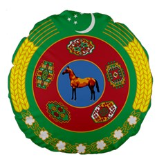 Turkmenistan National Emblem, 2000-2003 Large 18  Premium Round Cushions by abbeyz71