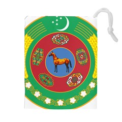 Turkmenistan National Emblem, 2000-2003 Drawstring Pouch (xl) by abbeyz71