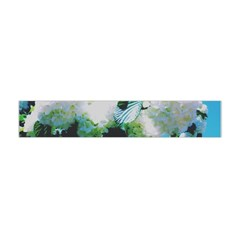 Faded Snowball Branch Collage (ii) Flano Scarf (mini) by okhismakingart