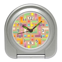 Abstract Background Colorful Travel Alarm Clock